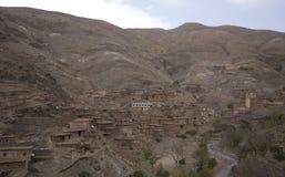 山的巴巴里人村庄 免版税库存照片