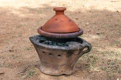 摩洛哥的被隔绝的Tajin 库存图片