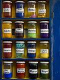 摩洛哥的颜色 免版税库存照片