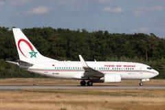 摩洛哥皇家航空公司波音737-700 库存图片