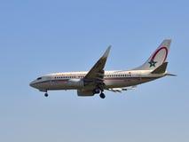 摩洛哥皇家航空公司波音737 库存图片