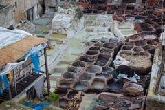 摩洛哥皮革 库存照片