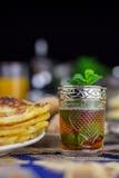 摩洛哥造币厂的茶 库存照片