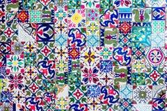摩洛哥锦砖纹理 库存照片