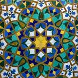 摩洛哥锦砖,哈桑二世清真寺,加州的陶瓷装饰 库存照片