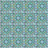 摩洛哥锦砖,清真寺,摩洛哥的陶瓷装饰 库存图片