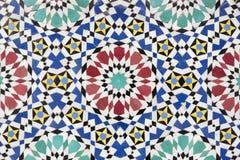 摩洛哥马赛克背景 免版税库存图片