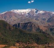 摩洛哥高阿特拉斯山脉范围视图 免版税图库摄影