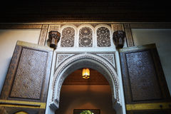 摩洛哥,马拉喀什 在El巴伊亚宫殿里面 库存照片