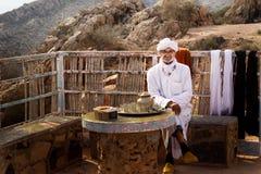 摩洛哥90岁的前辈-商人 免版税图库摄影
