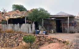 摩洛哥-巴巴里人的土著居民的老住宅 库存图片
