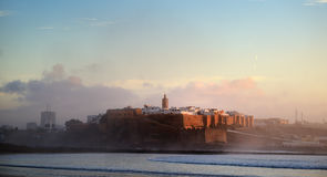 摩洛哥 Oudaya的Kasbah在拉巴特 免版税图库摄影