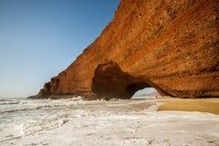 摩洛哥Legzira海滩 库存照片