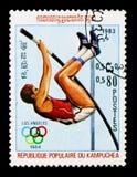 撑竿跳高,奥运会1984年-洛杉矶serie,大约1983年 库存照片
