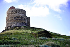 撒丁岛。在黄昏的圣乔瓦尼塔 库存照片