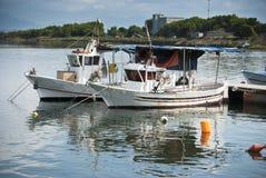 撒丁岛。小船 库存图片