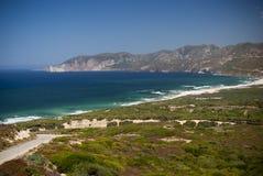 撒丁岛。西南海岸 免版税库存照片