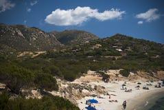 撒丁岛。Sa Ruxi波尔图 免版税库存图片