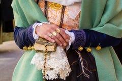 撒丁岛传统服装 免版税库存图片