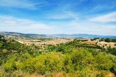 撒丁岛国家边在一个晴天 免版税库存图片