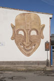 撒丁岛壁画 圣斯佩拉泰 图库摄影
