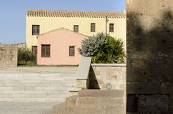 撒丁岛放弃了村庄 免版税图库摄影