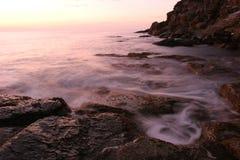 撒丁岛日落 库存图片