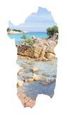 撒丁岛欢迎您 免版税库存图片