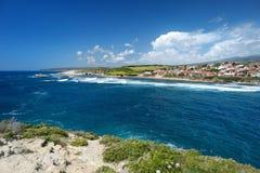 撒丁岛海岸的风景 免版税库存图片