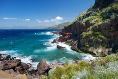 撒丁岛海岸的风景 免版税图库摄影