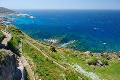 撒丁岛海岸的风景 库存照片