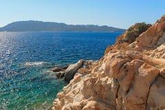 撒丁岛海的颜色 库存照片