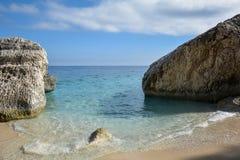 撒丁岛海滩 免版税库存照片