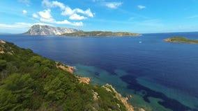 撒丁岛的东部海岸 股票视频