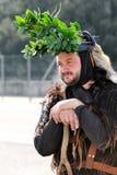 撒丁岛的传统面具 库存照片