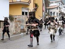 撒丁岛的传统面具 免版税库存图片