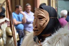 撒丁岛的传统面具 库存图片