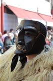 撒丁岛的传统面具 免版税库存照片