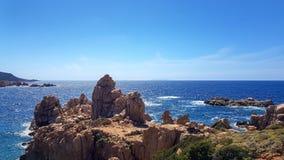 撒丁岛的北海岸的科斯塔Paradiso 免版税库存照片