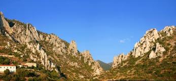 撒丁岛的峡谷 库存照片