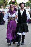 撒丁岛的服装 库存图片
