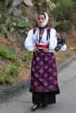 撒丁岛的服装 库存照片