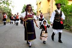 撒丁岛的服装 免版税库存图片
