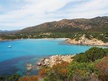 撒丁岛的海岸在普拉,意大利附近的 免版税图库摄影