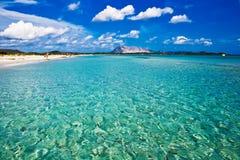撒丁岛的海滩 库存照片