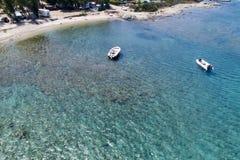 撒丁岛的美丽的海 免版税图库摄影