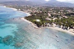 撒丁岛的美丽的海 图库摄影