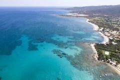 撒丁岛的美丽的海 库存图片