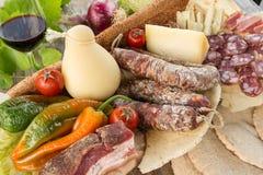 撒丁岛的食物 免版税库存照片