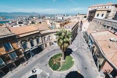 撒丁岛的首都鸟瞰图  免版税图库摄影